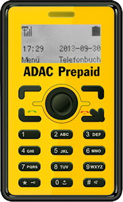 adac bietet minihandy mit prepaid karte f r unterwegs an. Black Bedroom Furniture Sets. Home Design Ideas