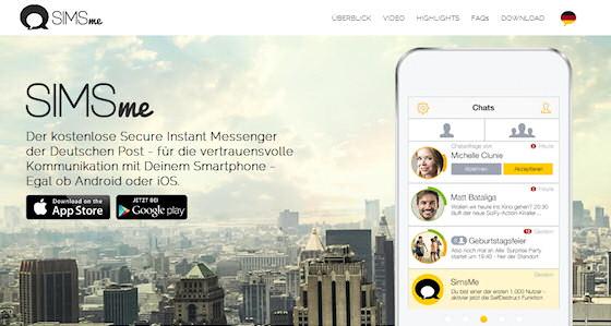 simsme sichere messenger app von der deutschen post. Black Bedroom Furniture Sets. Home Design Ideas