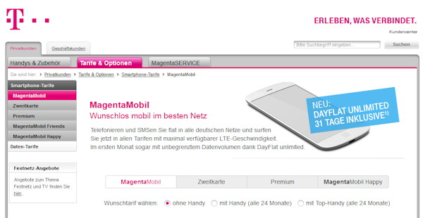 telekom startet neuen einsteigertarif magentamobil xs. Black Bedroom Furniture Sets. Home Design Ideas